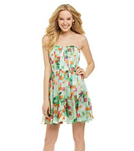 Guess Watercolor Full Skirt Dress