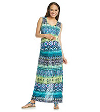 Three Seasons Maternity™ Printed Maxi Dress