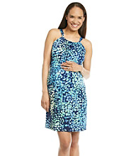Three Seasons Maternity™ Smocked Printed Dress