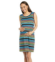 Three Seasons Maternity Stripe Tank Dress