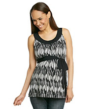 Three Seasons Maternity™ Solid Yoke Print Top