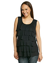 Three Seasons Maternity™ Ruffle-Front Top