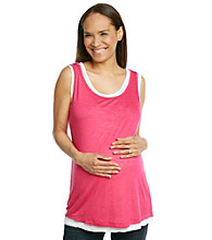Three Seasons Maternity™ Layered-Look Double Tank