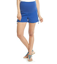 Three Seasons Maternity™ Cuffed Short with Bow Trim