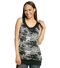 Three Seasons Maternity™ Printed Banded Bottom Tank