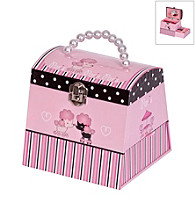 Mele & Co. Yvette Parisian Poodle Girl's Musical Ballerina Jewelry Box