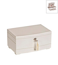 Mele & Co.Isabel Girl's Wooden Musical Ballerina Jewelry Box In Ivory