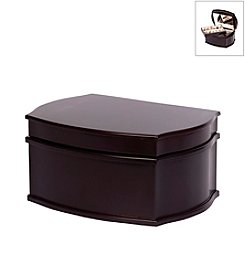 Mele & Co. Jacquelyn Wooden Jewelry Box in Java Finish