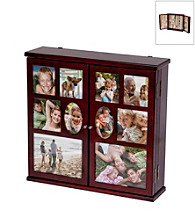 Mele & Co. Roxanne Hanging Photo Jewelry Chest in Walnut Finish