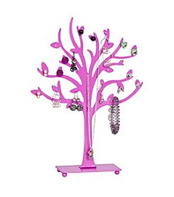 Mele & Co. Lisa Metal Tree Jewelry Stand in Pink
