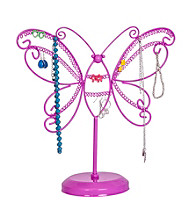Mele & Co. Bella Metal Butterfly Jewelry Stand in Pink