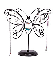 Mele & Co. Bella Metal Butterfly Jewelry Stand in Black