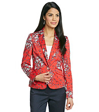 Jones New York Signature® Petites' Printed Fitted Blazer
