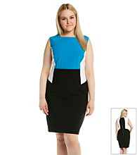 Calvin Klein Plus Size Colorblock Dress