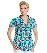 Jones New York Signature® Plus Size Printed Polo