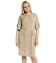 Calvin Klein Plus Size Henley Shirt Dress