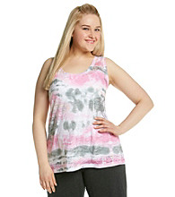 Calvin Klein Performance® Plus Size Sublimation Burnout Tank