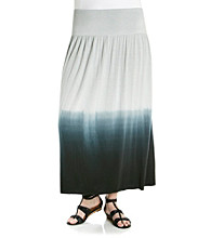 Fever™ Plus Size Dip-Dye Maxi Skirt