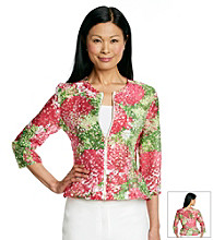 Ruby Rd.® Petites' Burnout Floral Print Jacket