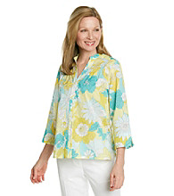 Alfred Dunner® Petites' Walking On Sunshine Floral Shirt