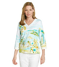 Alfred Dunner® Petites' Walking On Sunshine Scenic Top