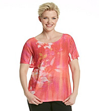Notations® Plus Size Floral Top