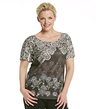 Notations® Plus Size Top