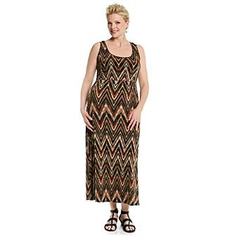 Notations Plus Size Maxi Dress Women's