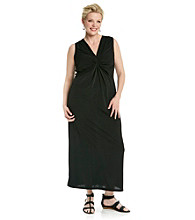 Notations® Plus Size Knot Maxi Dress