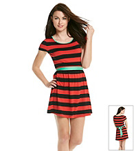 Kensie® Striped T-Shirt Dress