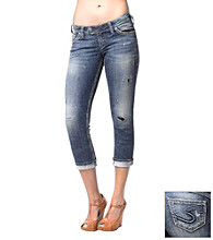 Silver Jeans Co. Tuesday Straight Fit Low-Rise Rose Capri Jeans