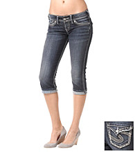 Silver Jeans Co. McKenzie Straight Fit Low-Rise Flap Capri Jeans