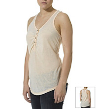 Silver Jeans Co. Burnout Henley Tank
