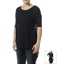 Silver Jeans Co. High-Low Tee with Chiffon Back