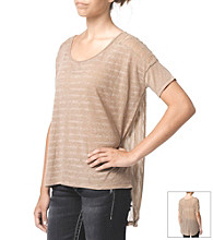 Silver Jeans Co. Striped Tee with Lace Back