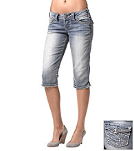 Silver Jeans Co. McKenzie Straight Fit Low-Rise Flap Cropped Jeans