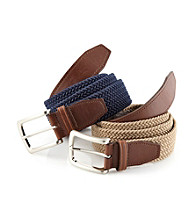 John Bartlett Statements Men's Stretch Fabric Belt