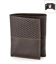 Kenneth Roberts Platinum® Men's Argyle Trifold Leather Wallet