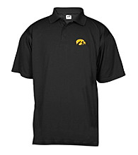 J. America® Men's Black University of Iowa Mesh Performance Polo