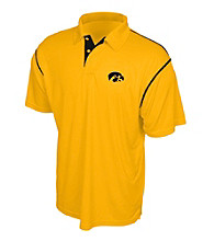 J. America® Men's Gold University of Iowa Contrast Stitch Performance Polo