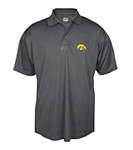 J. America® Men's Graphite University of Iowa Performance Polo