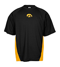 J. America® Men's Black University of Iowa Mesh Performance Tee