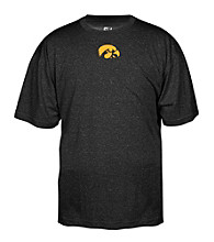 J. America® Men's Black University of Iowa Heathered Performance Tee