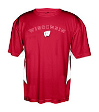 J. America® Men's Red University of Wisconsin-Madison Performance Tee