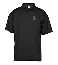 J. America® Men's Black Ohio State Mesh Performance Polo