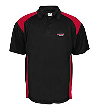 J. America® Men's Black Ohio State Mesh with Interlock Panel Performance Polo