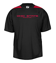 J. America® Men's Black Ohio State Mesh Performance Tee with Sleeve Panels
