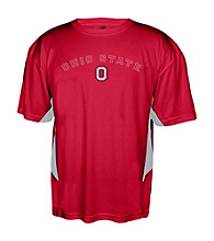 J. America® Men's Red Ohio State Mesh Performance Tee