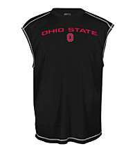 J. America® Men's Black Ohio State Solid Sleeveless Mesh Performance Tee