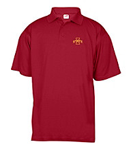 J. America® Men's Cardinal Iowa State Mesh Performance Polo